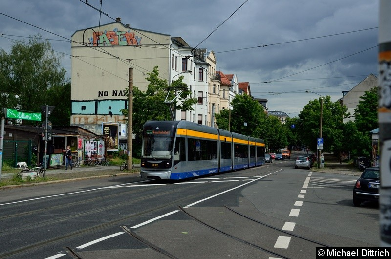 1232 als Linie 31 kurz vor dem Connewitzer Kreuz.
