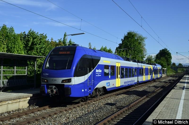 ET 358 (Meridian) auf dem Weg nach München Hbf. in Otterfing.