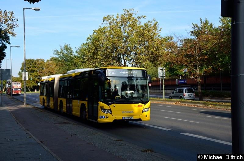 4429 auf dem Altstädter Ring in Richtung Rathaus Spandau.