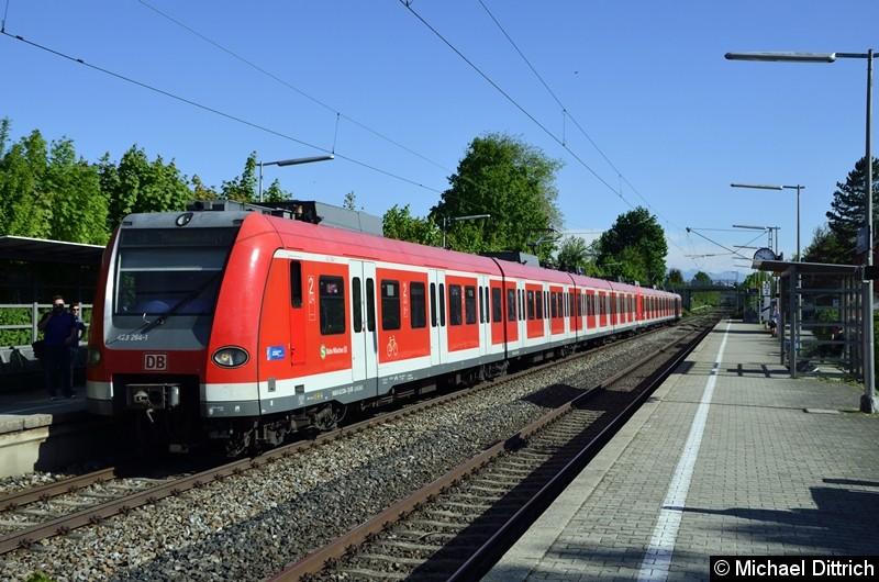 423 264 + 423 186 als Linie S3 in Otterfing.