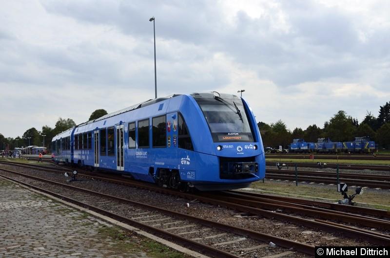 Der erste iLINT im Fahrgastverkehr.  Hier bei der Bereitstellung in Bremervörde.